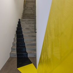 Jennifer Cochrane, Impossible Shadow 2, 2016, cloth tape, dimensions variable. Photo Kathrin Schulthess