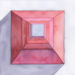 Caspar Fairhall, Inverse Space, 2019, watercolour on paper, 26 x 26cm