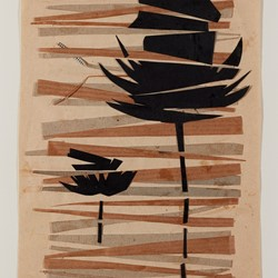 Carol Rudyard, Palm Trees, collage on paper, 17.5 x 11.5cm