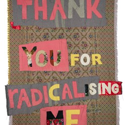 Olga Cironis, Thank You for Radicalising Me, 2020, recycled bed cover, linen thread, Balkan embroidery, velvet, 230 x 160cm.jpg