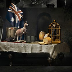 Connie Petrillo, Still Life with Kangaroo, 2014, C-type print on archival rag paper, 102 x 159cm, ed. 5