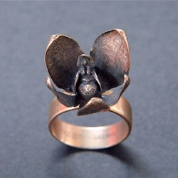 Sarah Elson, Orchard Ring 2, 2014, reclaimed silver and gold