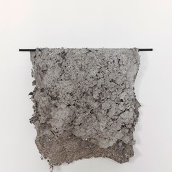 Susan Roux, Unstitched, 2018, Canson paper, ink and thread, dimensions variable