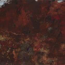 Merrick Belyea,  Near Gabbadah I, 2019, oil on board, 30 x 61cm