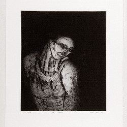 Jon Tarry, The Worker, 1988, intaglio print on paper, 38 x 28cm, ed. 100