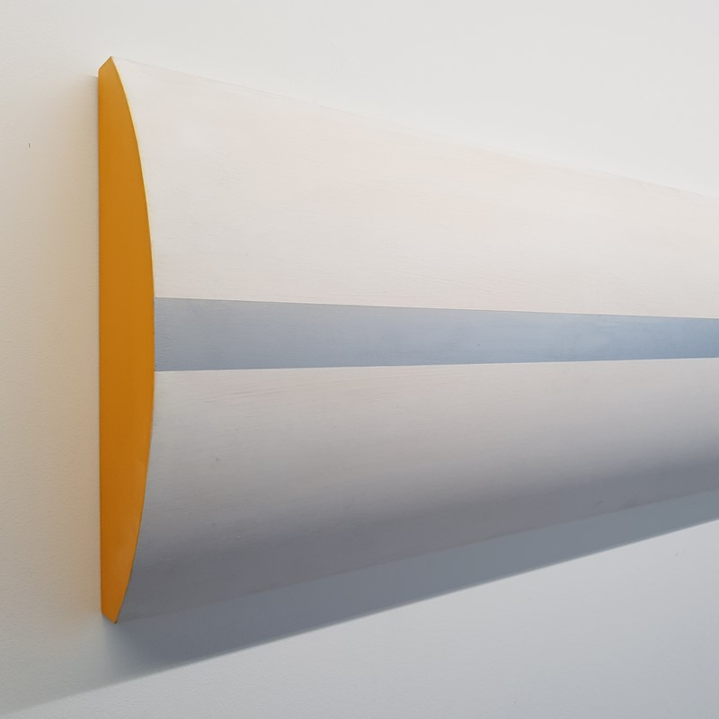 Jon Tarry, Silver Horizon, plywood and acrylic paint, 60 x 35 x 160cm