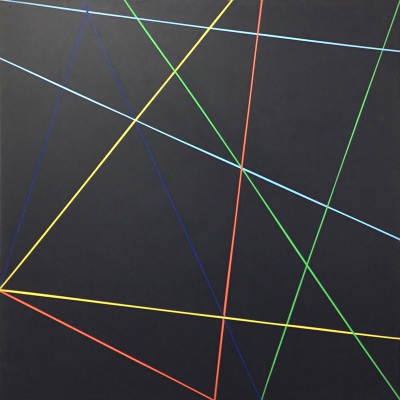 Trevor Richards, C5 (Contact), 2020, acrylic on canvas, 122cm x 122cm