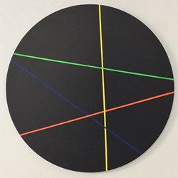 Trevor Richards, C8 (Sample), 2020, acrylic on birch panel, 70cm diameter