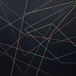Trevor Richards, C15 (Crossing), 2020, acrylic on canvas, 161 x 177cm