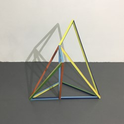 Trevor Richards, C19 (Colour), 2021 paint and aluminium 84 x 84 x 74cm