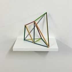 Trevor Richards, Frame 1, 2020, acrylic on balsa wood, 30 x 20 x 10cm