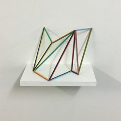 Trevor Richards, Frame 2, 2020, acrylic on balsa wood, 30 x 20 x 10cm