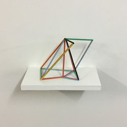 Trevor Richards, Frame 3, 2020, acrylic on balsa wood, 30 x 20 x 10cm