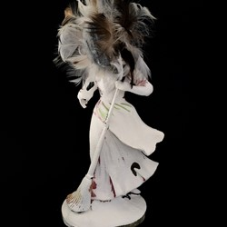 Olga Cironis, Hera and the Stars, 2016, repurposed porcelain ornament and feathers, 21 x 11 x 3cm