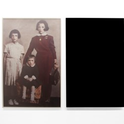 Olga Cironis, Together We Were Rich, We Had Shoes, 2013, archival digital print and acrylic, 120 x 66.5 x 2.5cm (2 panels)